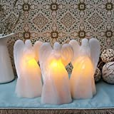 Angel Flameless Candles - Set of 3 Guardian Angel