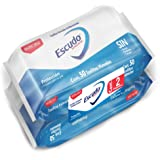 Escudo Antibacterial, Toallitas Húmedas Antibacteriales Para Manos, 100 Piezas (2 paquetes de 50 toallitas c/u)