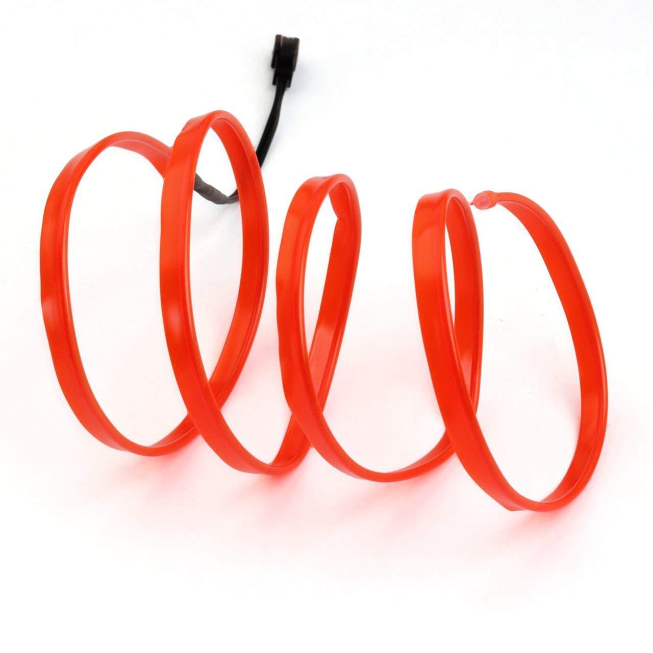 rot 12 V Controller USB Stick Auto Dekoration Licht Auto Styling Party Decor LED EL Licht Neon Seil Auto Dance Glow Light Strip 3 V