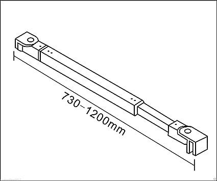 Lateral Movible 8mm Antical Barra 140cm Mamparas de Ducha Panel Fijo 50x40x200cm