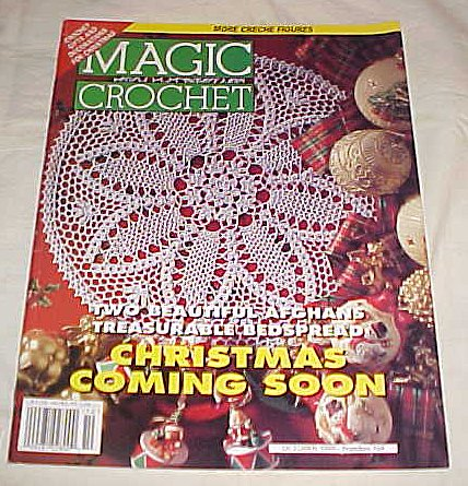 Christmas Filet Crochet - MAGIC CROCHET Magazine October 1996 Number 104 (Christmas Coming Soon)