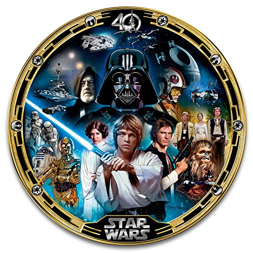 (STAR WARS Episode IV A New Hope Porcelain Collectible Plate by The Bradford Exchange)