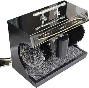 Lustradora De Calzado Automática, Máquina Limpiabotas, Eléctrica Doméstica, Cepillo Automático, Luz Limpia, Zapatos De Cuero (Color : Negro): Amazon.es: Hogar