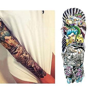 7pcs manga del brazo de la flor mangas del tatuaje del brazo del ...