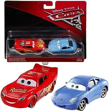 Disney Selección Modelos Doble Pack Cars 3 | Cast 1:55 Vehículos | Mattel, Cars Doppelpacks 2017:Lightning Mcqueen & Sally: Amazon.es: Juguetes y juegos
