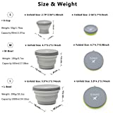 m square Collapsible Food Grade Silicone Bowls with