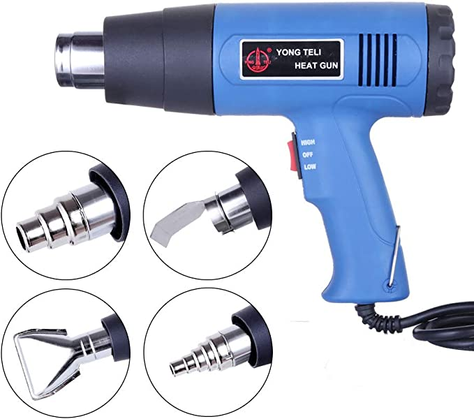 6 Nozzles Power Heater ZE 2000W Heat Gun Hot Air Wind Blower Dual Temperature
