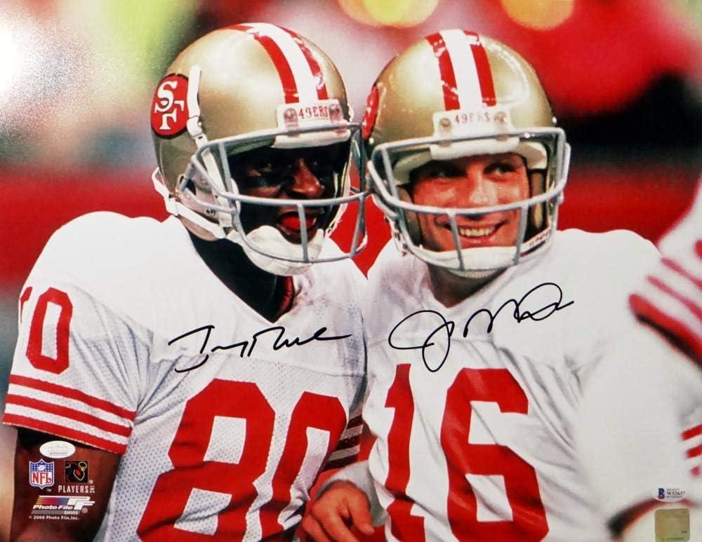the lowest price Joe Montana Jerry Rice Autographed 49ers 16x20 ...