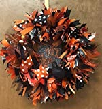 Halloween Trick or Treat Wreath. Halloween Door Decoration with lots of Sparkle. Super Cute & Whimsical.