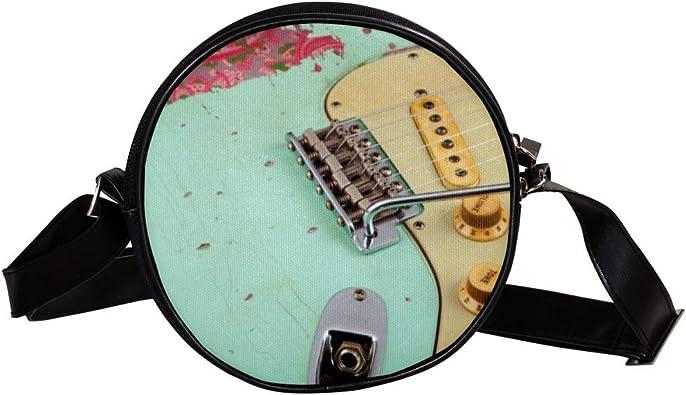 Bennigiry Fender Guitarra Redonda Crossbody Bolsos Bolso de ...