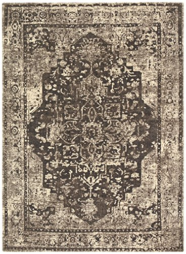 Stone & Beam Contemporary Distressed Vintage Rug, 4' x 6', Grey by Stone & Beam