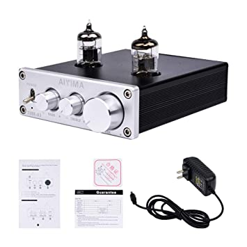 AIYIMA Audio 6J1 Tube Preamplifier HiFi Treble & Bass Adjustment Audio  Preamp DC12V Stereo Tube Amplifier Preamp NE5532P Chips for Home Theater