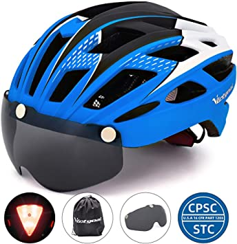 VICTGAOL Casco Bicicleta Helmet Bici Ciclismo para Adulto con Luz ...