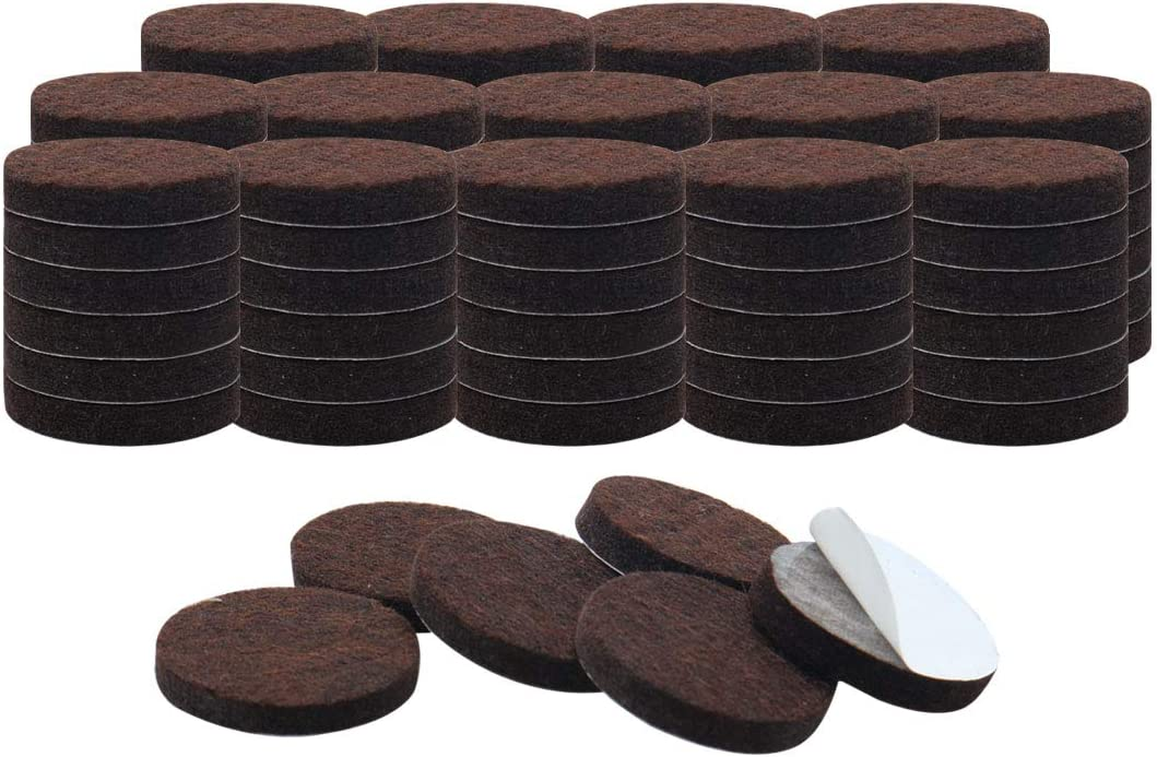 uxcell 90pcs Furniture Pads Round 3/4