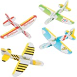 "Kidsco Mini Foam Glider Plane - 4"" X 3.5"" – 24 Pack – Assorted Colors and Designs Foam Airplane Flying Gliders - for Kids Great Party Favors, Bag Stuffers, Fun, Toy, Gift, Prize"