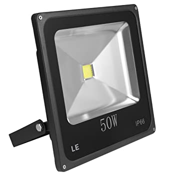 LE 50W Super Bright Outdoor LED Flood Lights, 150W HPS Bulb Equivalent, Waterproof,