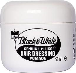 Black and White Genuine Pluko Hair Dressing Pomade (50ml)