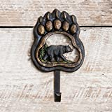 Bear Paw Wilderness Single Rustic Hook - Cabin Bathroom Decor