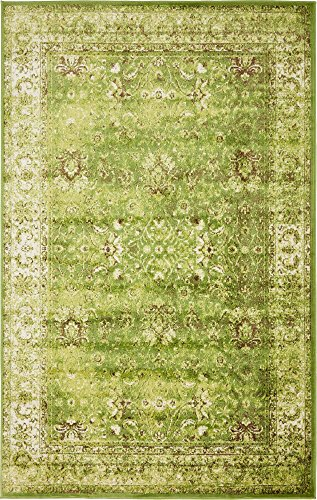 Unique Loom Imperial Collection Modern Traditional Vintage Distressed Green Area Rug (5' 0 x 8' 0) ()