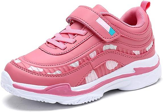 Zapatillas de Deporte para niñas Zapatillas con Velcro Calzado Deportivo para niños al Aire Libre Suela Gruesa Zapatillas de Color Rosa para Caminar Casual: Amazon.es: Zapatos y complementos