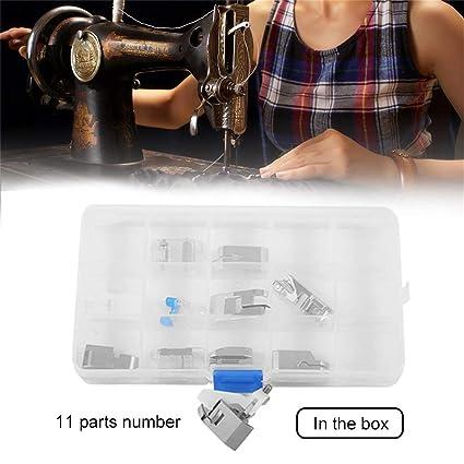 Footprintse 11pcs / Set Accesorios de la máquina de Coser eléctrica doméstica Profesional Mini Piezas de