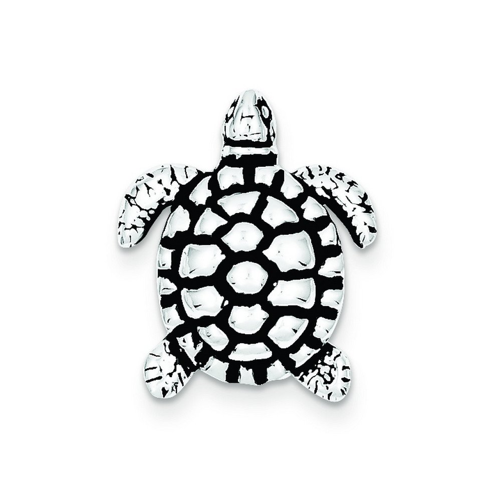 Sterling Silver Antiqued Turtle Charm