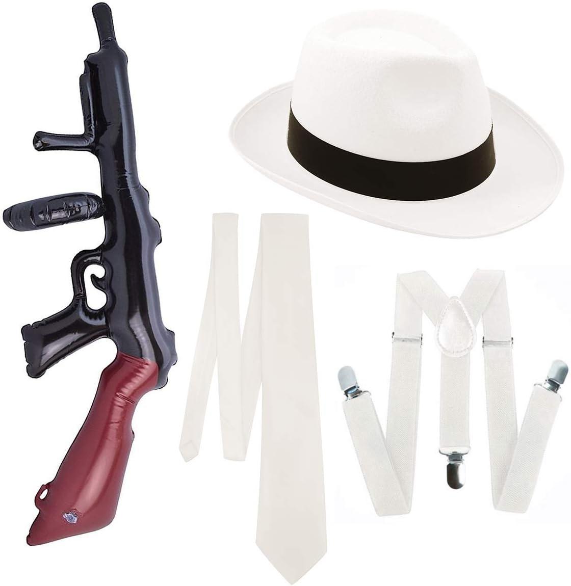 PAPER UMBRELLA Adulto Hombres Pistola Gánster Set de 4 Piezas ...
