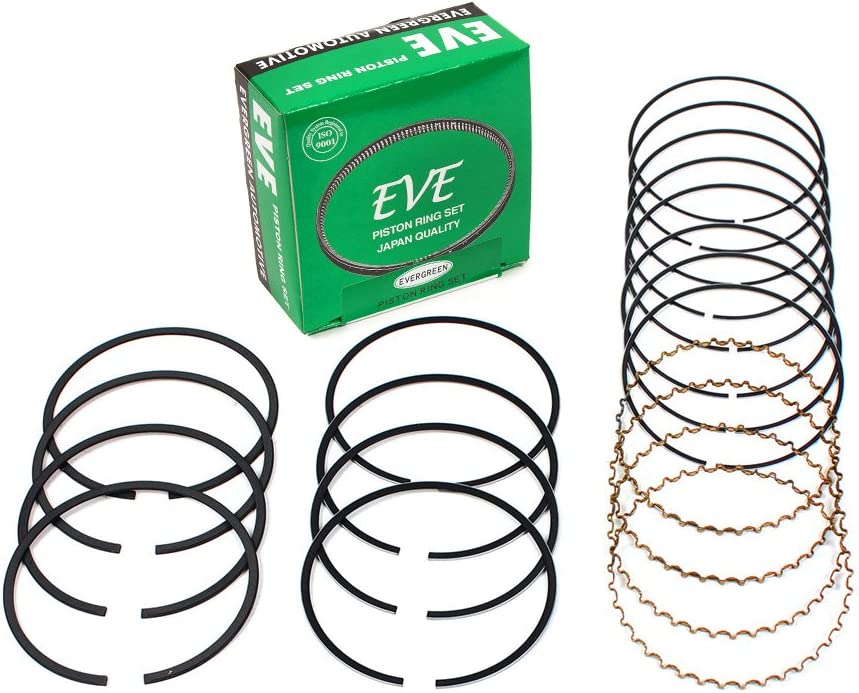 Evergreen Engine Rering Kit FSBRR3016EVE\2\1\1 Fits 98-04 Nissan Frontier Xterra 2.4 DOHC KA24DE Full Gasket Set 0.50mm 0.010 Oversize Main Rod Bearings 0.020 Oversize Piston Rings 0.25mm