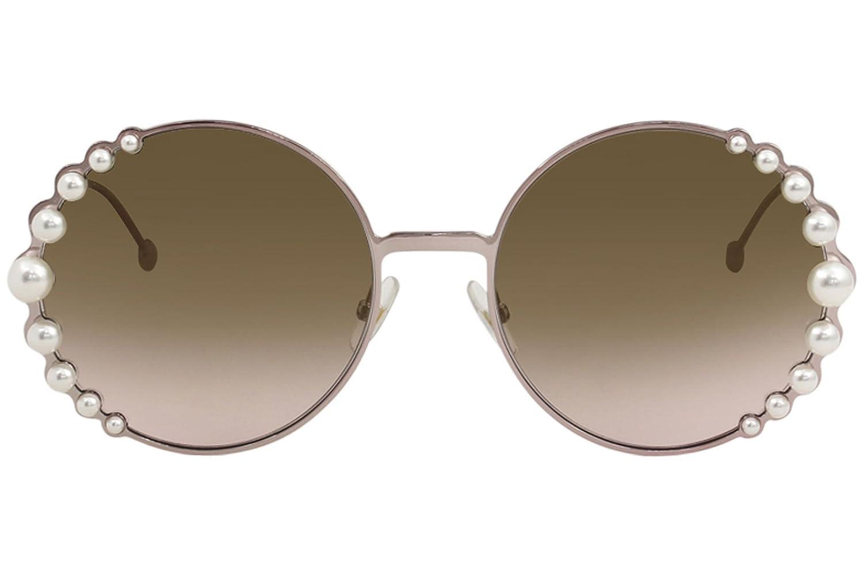 fa74759b910 Amazon.com  Fendi Women s Round Pearl Frame Sunglasses