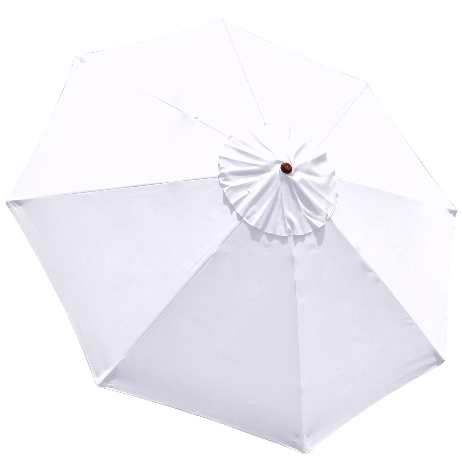 AMPERSAND SHOPS Replacement Canopy Cover for Outdoor Market Patio Umbrellas 9-Ft, 8-Rib (White)