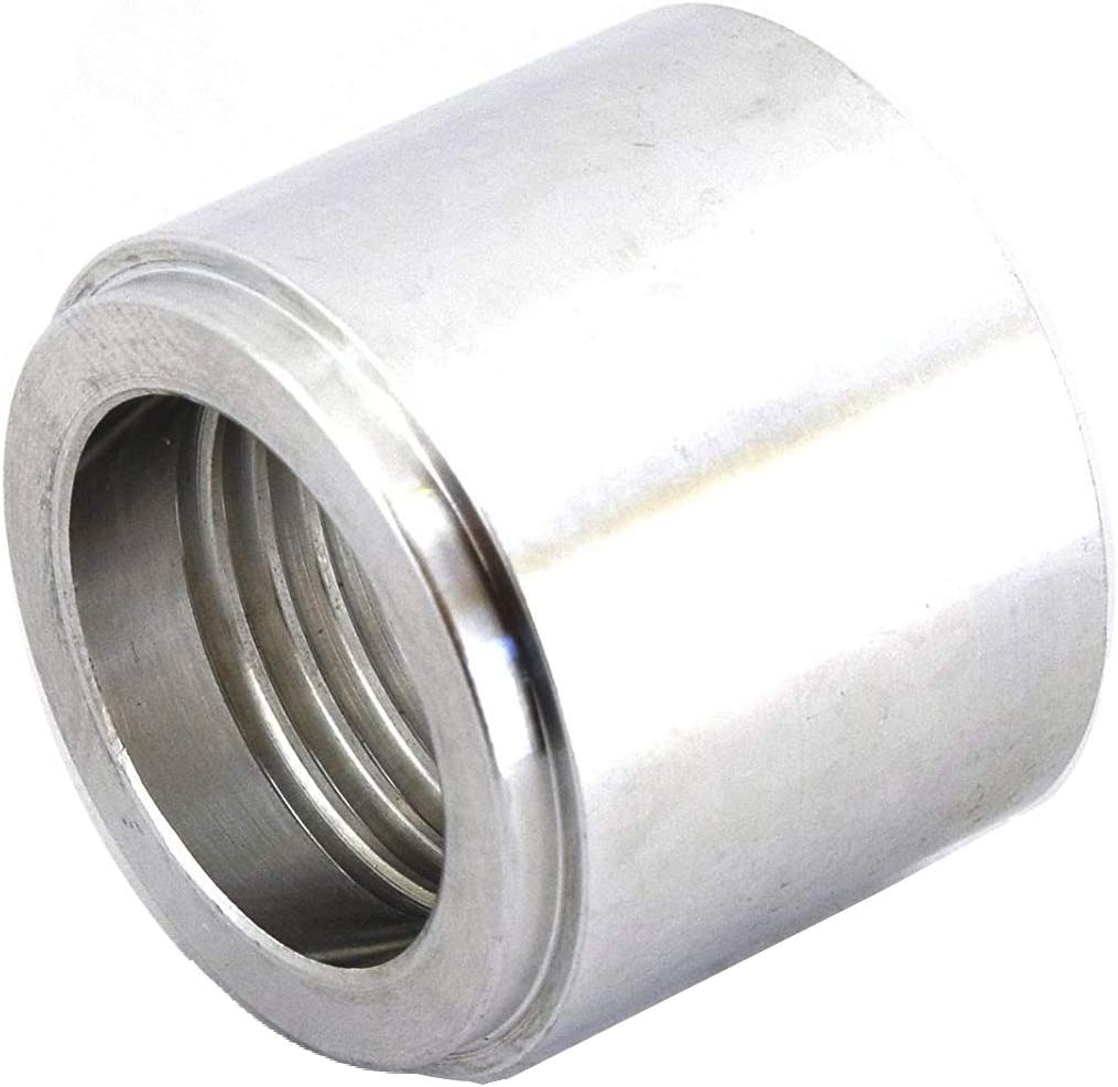 Thread Hose Adapter Connector 9//16-18 6 AN Weld On Bung Stainless Steel Male Flare Weldable Fuel Tank Fitting AN6 JIC-6 AN