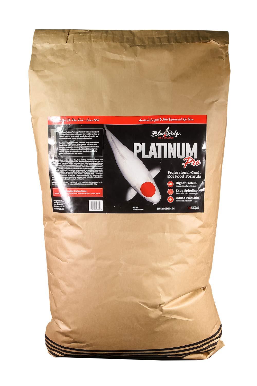"Blue Ridge Fish Food Pellets, Koi and Goldfish Platinum Professional Formula, Floating 3/16"" Pellet, Balanced Diet"