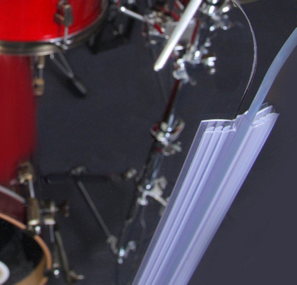 Drum Shield- DS65L Five - 2ft. x 6 ft. Panels with Plastic Full Length Living Hinges by Pennzoni Display (Image #4)