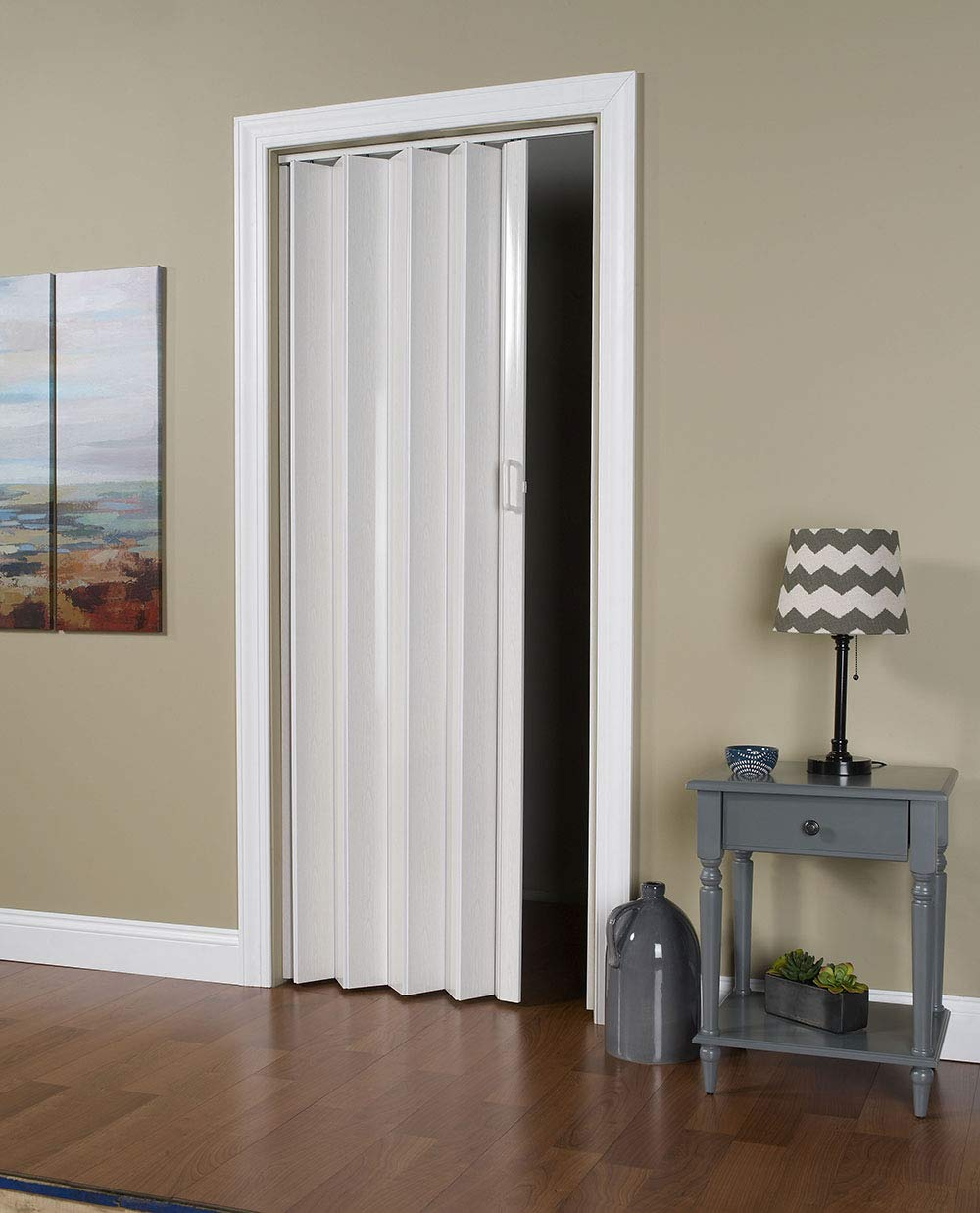 Spectrum OK32-3680F Oakmont 32'' to 36'' x 80'' Accordion Folding Door, Frost White