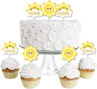 product image for You Are My Sunshine - Dessert Cupcake Toppers - Baby Shower or Birthday Party Clear Treat Picks - Set of 24