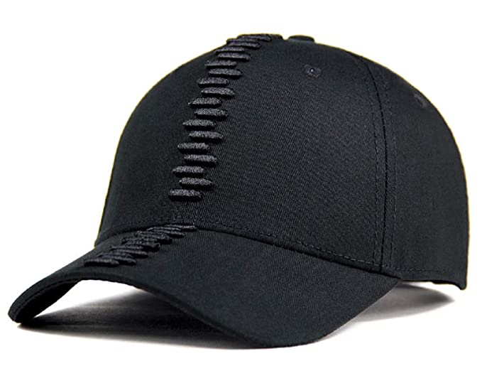 18b23f85f3af Image Unavailable. Image not available for. Colour  Oulm Cotton 3D Cut Adjustable  Black Cap for Men   Boys ...