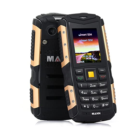 Amazon com: ECOOPRO Rugged Unlocked GSM Cell Phone (Gold) – Dual SIM