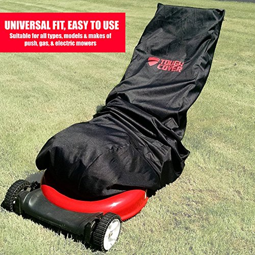 Premium Waterproof Lawn Mower Cover by ToughCover Heavy accountability 600D Marine Grade Fabric universal fit in environment UV Mold Protection utilizing Drawstring storage area purse virtually all beneficial Prices