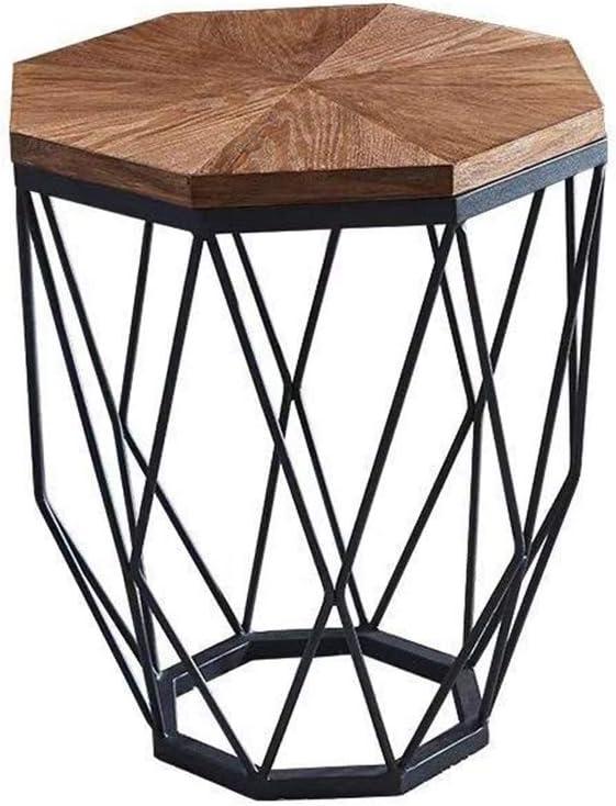 Salontafel van natuurlijk hout, met Scandinavische bijzettafeltjes, waterdicht, eenvoudige montage, consoletafel, bijzettafel voor woonkamer B