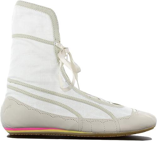 PUMA Parody Damen Schuhe Weiß Fashion Sneaker Sommer Stiefel Turnschuhe Sportschuhe Textil Canvas