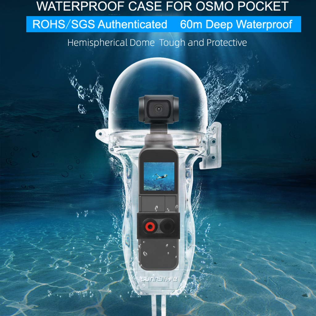 Tauchen 60m//196ft HUI.HUI Underwater Wasserfeste H/ülle f/ür DJI OSMO Pocket