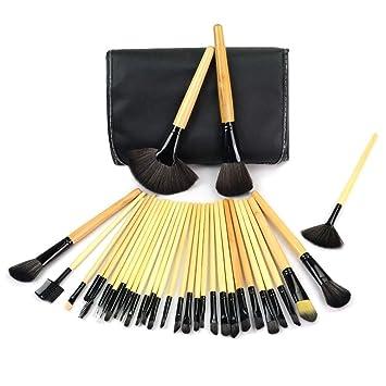 32 Piece Professional Makeup Brush Set With Vegan Leather
