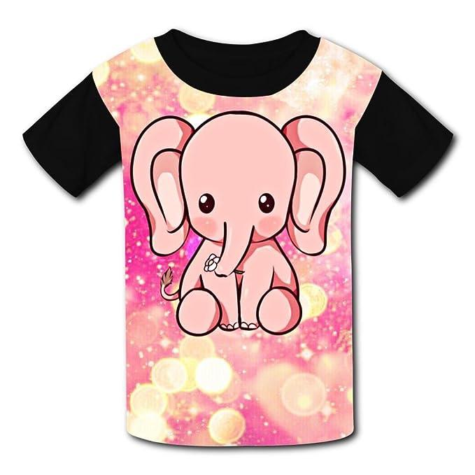 6a783e172a67 Amazon.com  Yeeky-LA Custom Pink Elephant Boys Girls Tee Shirt Teenager  Youth Children T-Shirts  Clothing