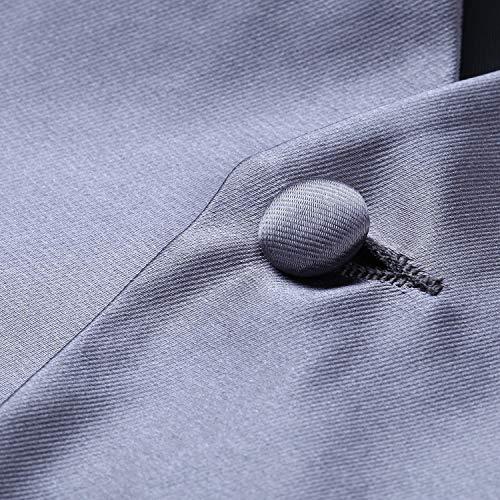 Pour Unie En Gilet Hommes De Et Cravate Gris Jacquard Couleur Hisdern Poche q4n81px