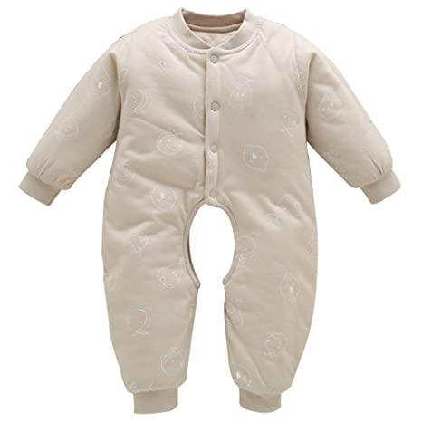 BOZEVON Bebé Unisexo Pijamas Traje Mameluco para Niños Niñas Ropa Invierno Monos Jumpsuit Ropa de abrigo