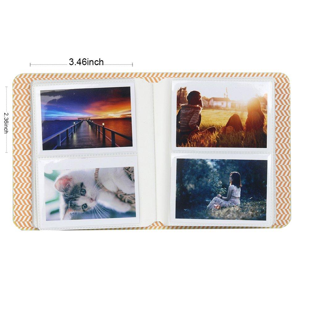 64 pocket, Smokey White Snap Touch Pellicole Polaroid Zip Snap HP Gear Anter Photo Album Accessori per Fujifilm Instax Mini Camera