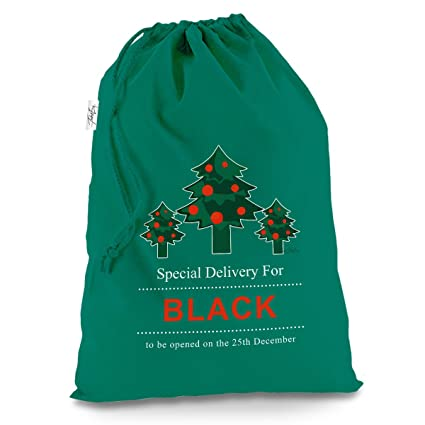 personalised christmas trees special delivery x large green christmas santa sack mail post bag - Does Mail Get Delivered On Christmas Eve