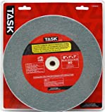 Task Tools T35945 8-Inch by 1-Inch Silicon Carbide Bench Grinding Wheel, 80 Grit, 1-Inch Arbor