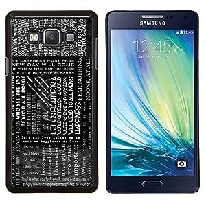 Cubierta protectora del caso de Shell Plástico || Samsung Galaxy A7 ( A7000 ) || Texto Negro Blanco Lectura Libros Mensaje @XPTECH