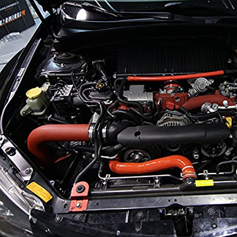 2008-2014 Mishimoto MMAI-STI-08WRD Subaru WRX//STI Performance Cold-Air Intake Wrinkle-Red